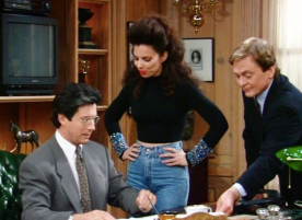 Fran Fine and Maxwell Sheffield and Niles on The Nanny
